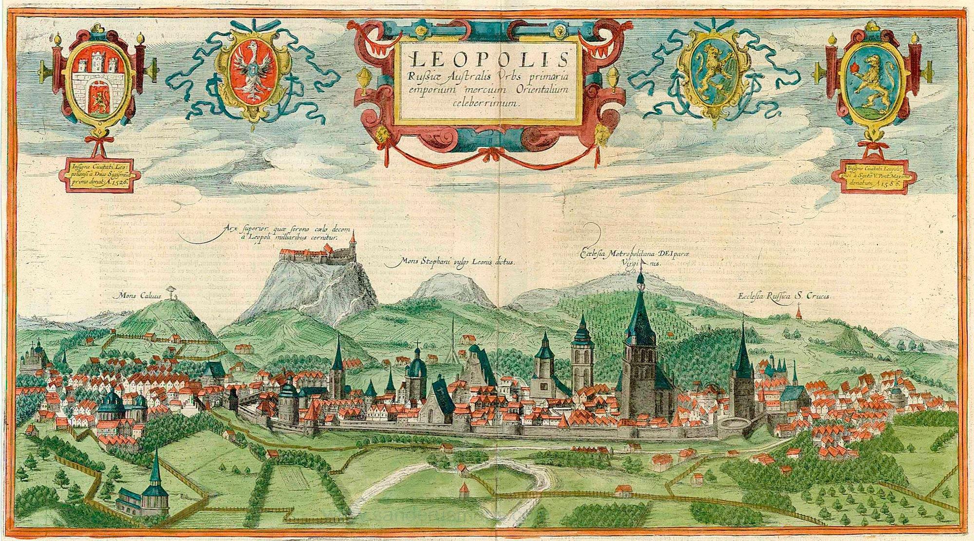 Панорама Львова Абрагама Гоґенберґа/Ауреліо Пассаротті, 1617-1618 © WIKI