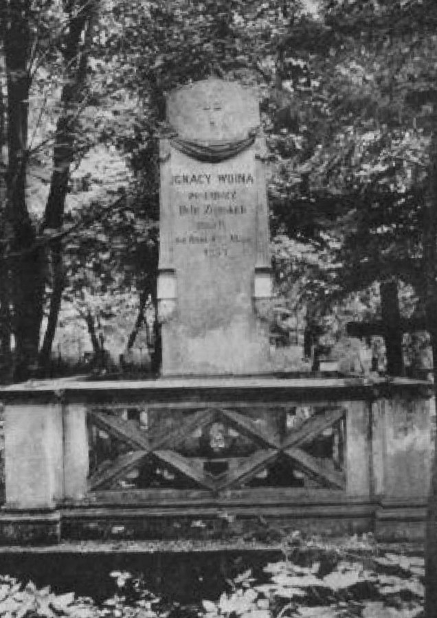 Гробівець Ігнація Войни на Стрийському кладовищі. Фото до 1911 року © NAC