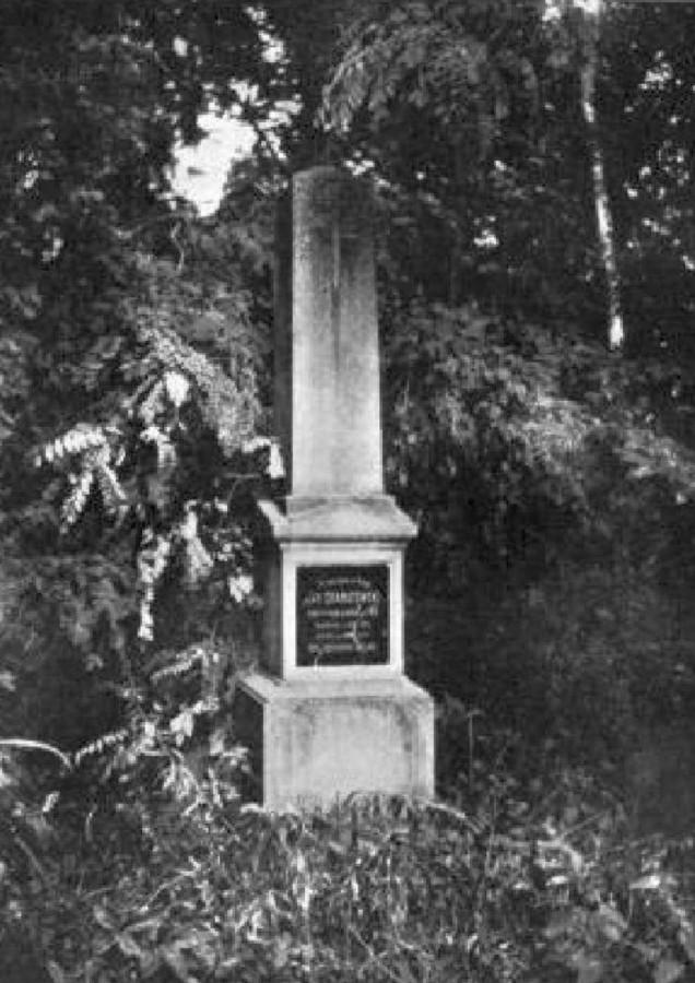 Могила Яна Ґранатовського на Стрийському кладовищі. Фото до 1911 року © NAC