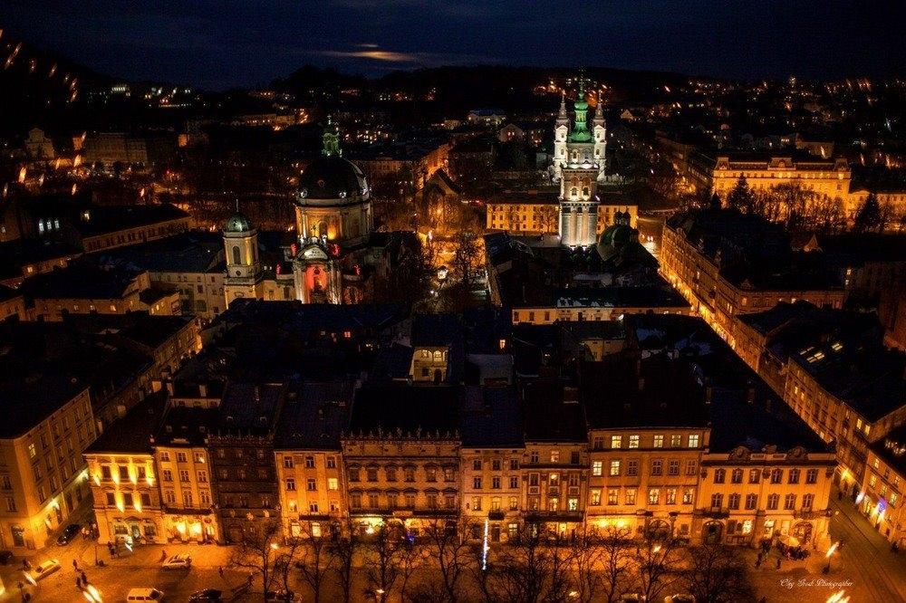 Панорама Львова з Ратуші © vk.com