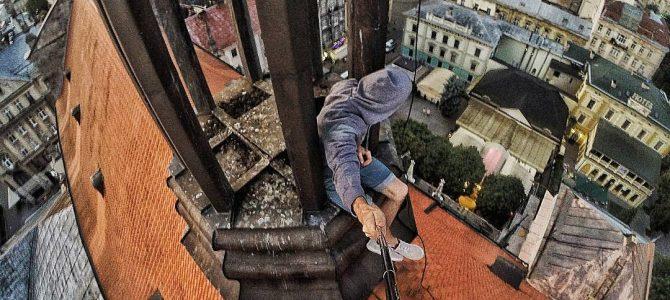 Львів очима руфера з даху Єзуїтського костелу