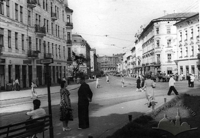 Вулиця Городоцька. Творець: Невідомий. 1955-1960 © lvivcenter.org