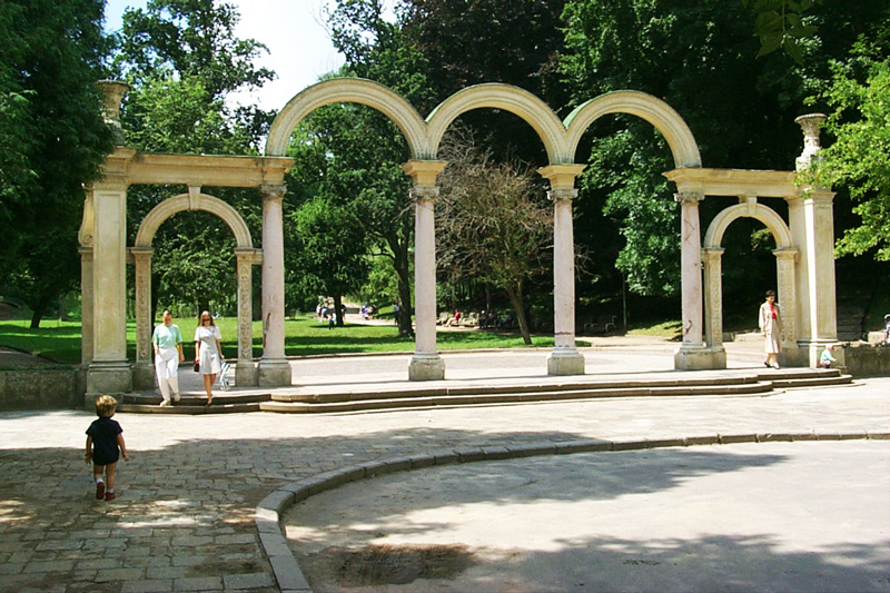 Стрийський парк, вхід