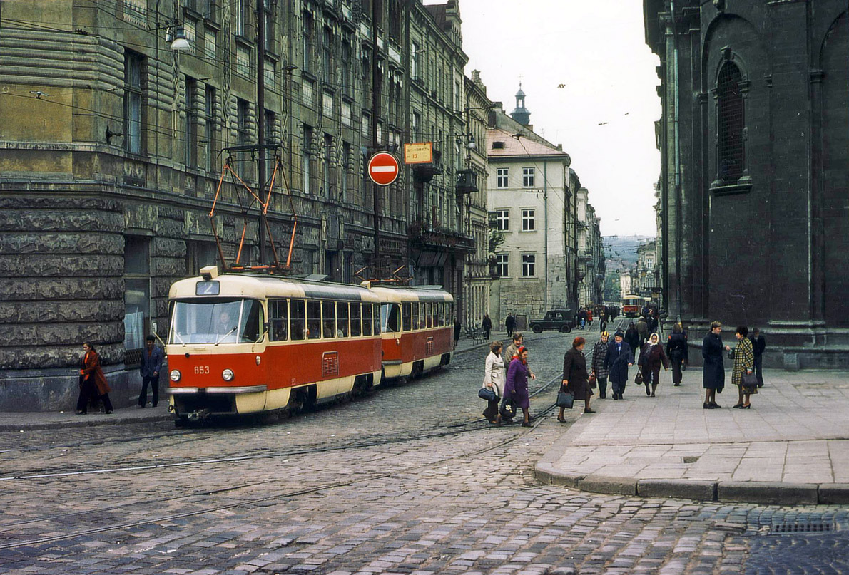 Трамвай Tatra T4SU № 853 © Ханс Олерманс