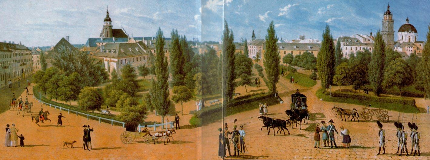 Губернаторські вали. Гуаш Ф.Герстенберга , бл. 1830 р.