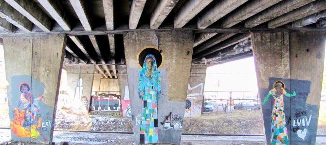 Несподівано: круті графіті, інспіровані творчістю Клімта і Пінзеля під одним із львівських мостів