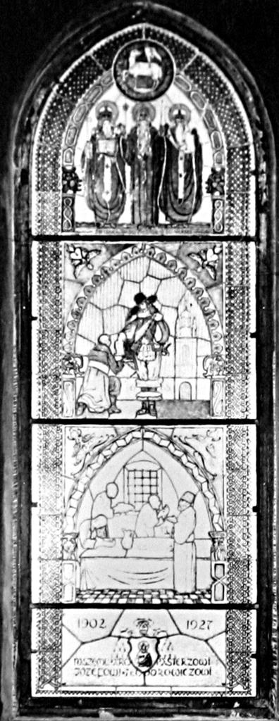 Вітраж про життя львівських вірмен, фот. Л. Вележинського, 1930 р.