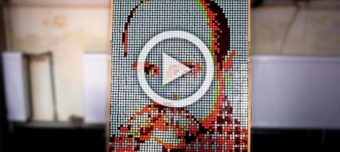 Круто: у Львові студент вшанував Шевченка кубиками Рубіка (відео)