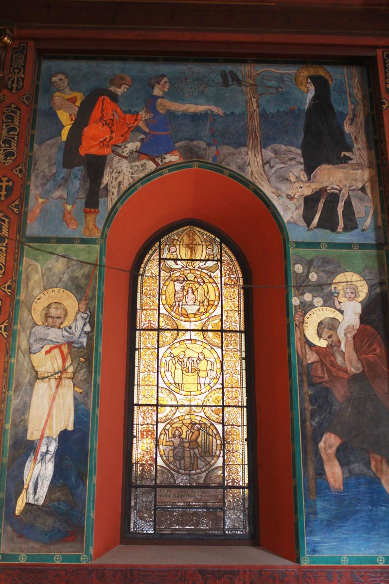Відновлений вітраж з Св. І.Хрестителем, осінь 2016 року, фото Ольги Коханевич