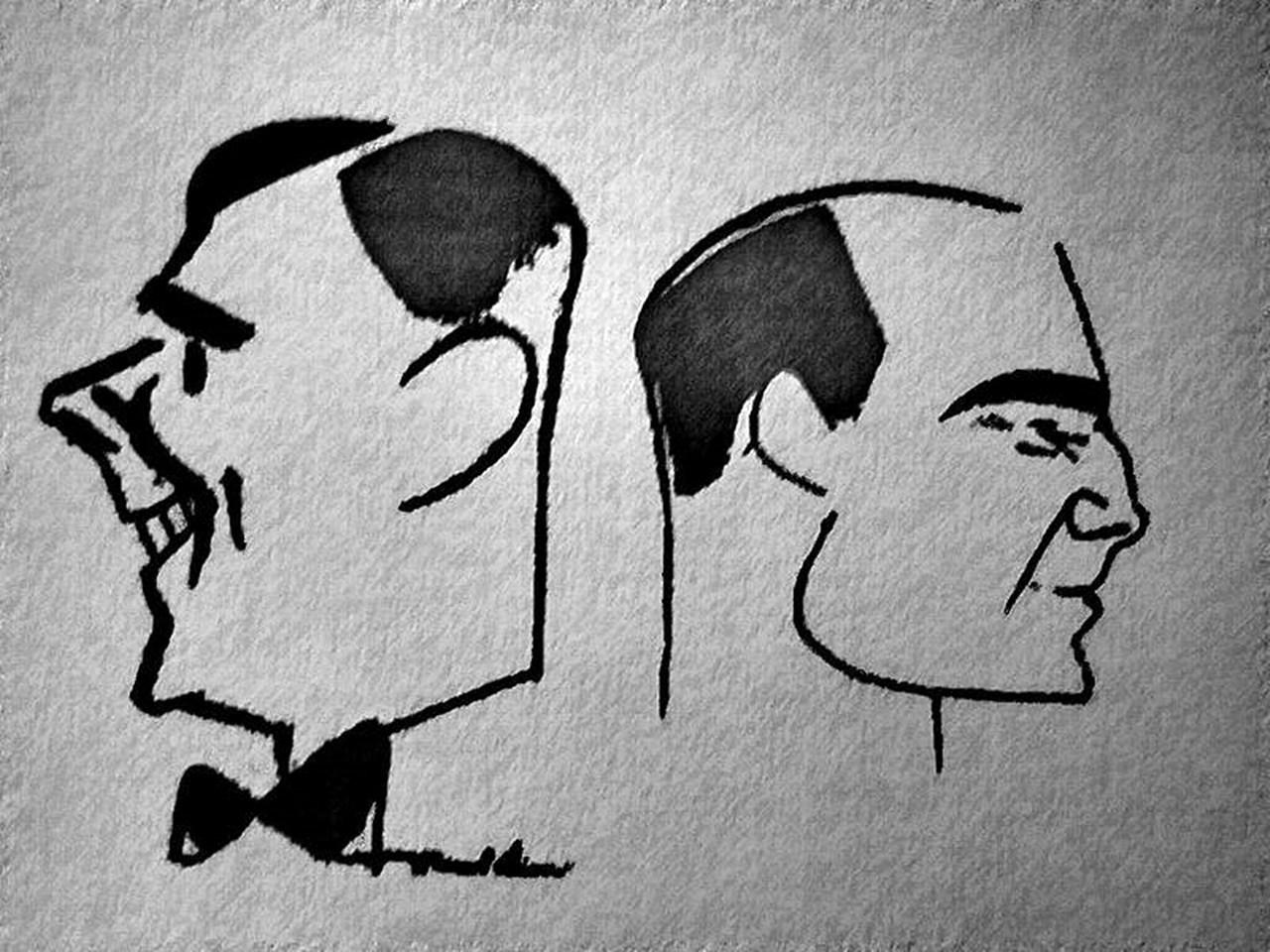 Карикатура на Тонька і Щепка