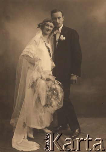 1921, Lwów, Polska Ślub rodziców Danuty Kominiak – Marii Porczak i Edwarda Krysiaka.