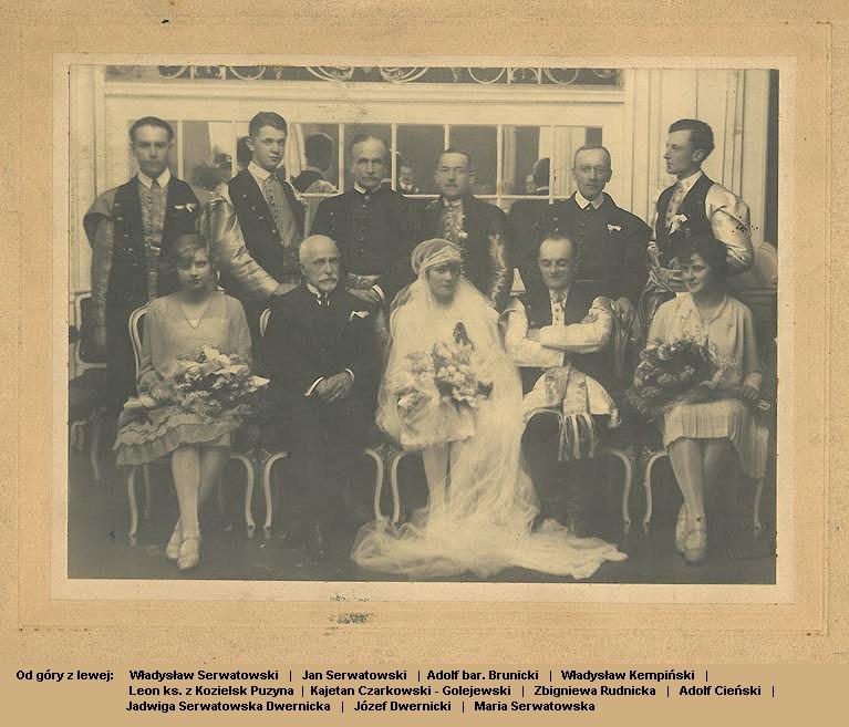 Jadwigа z Serwatowskich, Józef Gotard Dwernicki, 14 квітня 1928