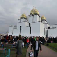 Як освячували Великодні святкові кошики у Церкві Різдва Пресвятої Богородиці у Львові (фото)
