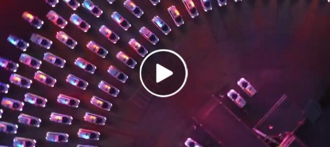 Заступили на службу: Захоплююче вечірнє відео з сотнями нових авто для поліцейських (відео)
