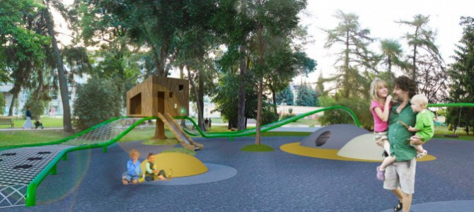 На Площі Святого Юра з'явиться унікальний дитячий майданчик (візуалізація)
