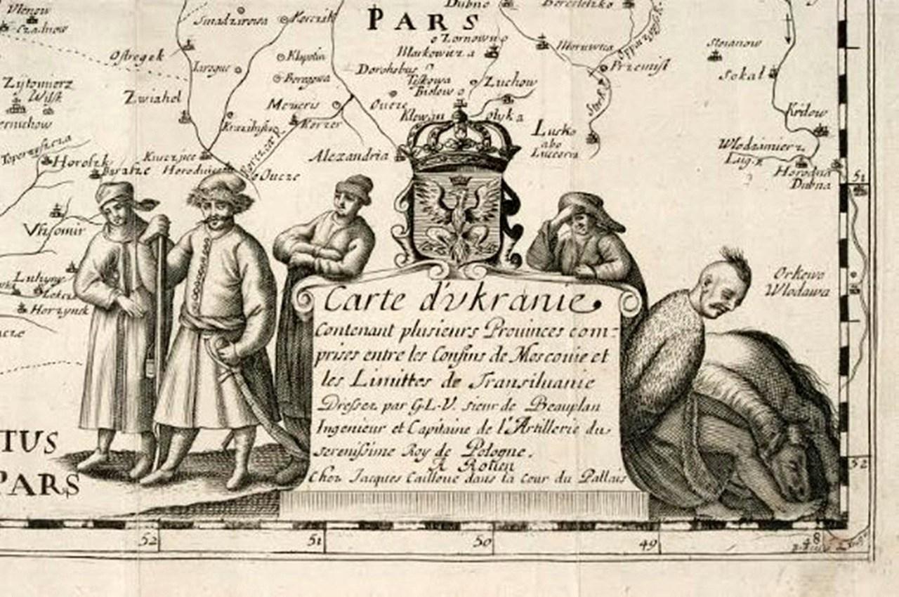 Луцьк на мапі Гійома Левассера де Боплана, середина ХVII століття