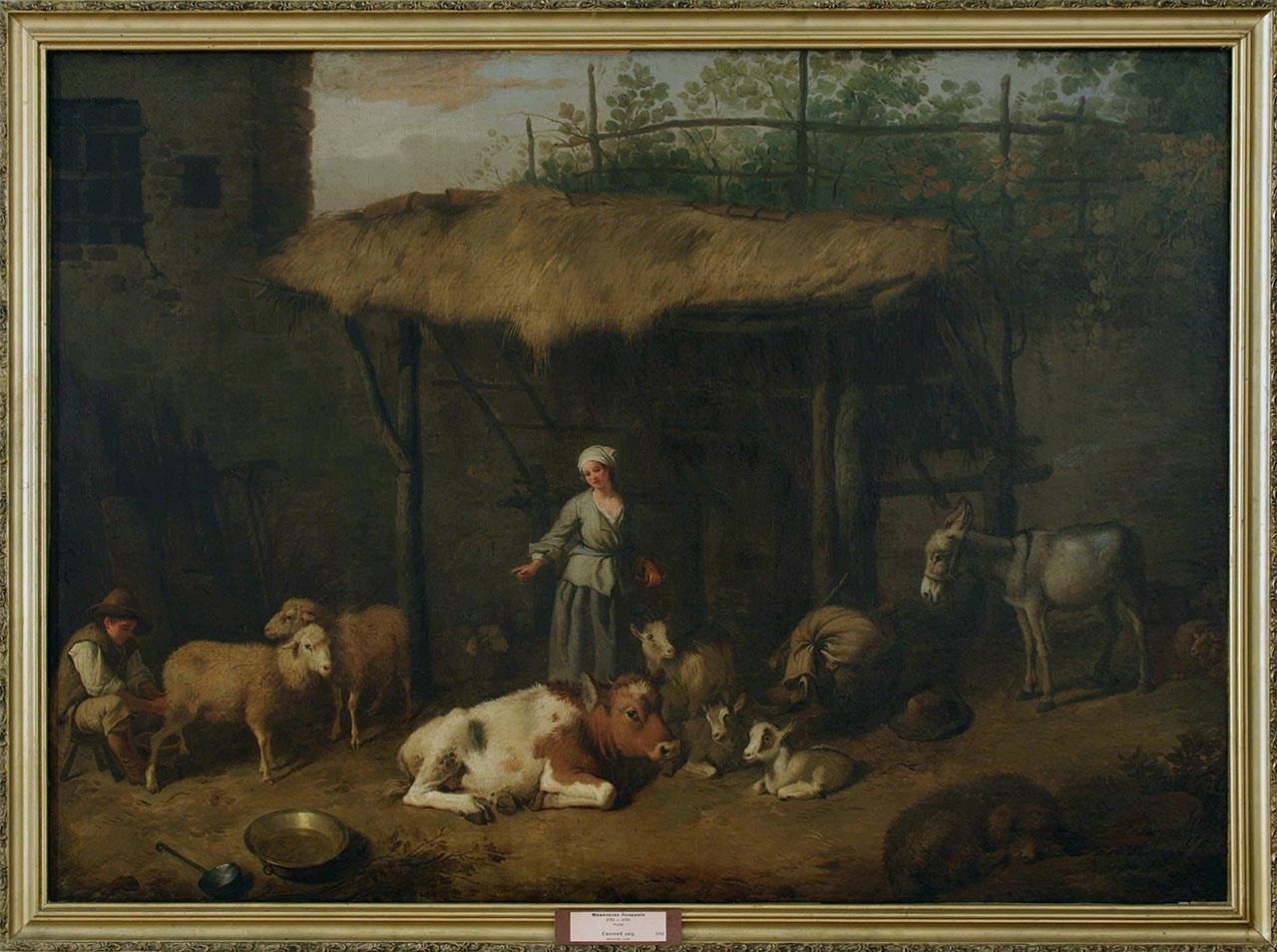 Франческо Лондоніо. Сільське подвір'я, 1723 – 1783. З колекції Художнього музею у Луцьку