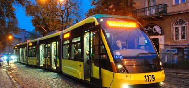 «Львівелектротранс» розробив розклад руху трамваїв у новорічну ніч