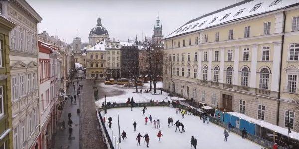 Відеоблогери зняли ролик про зимовий туризм у Львові (відео)