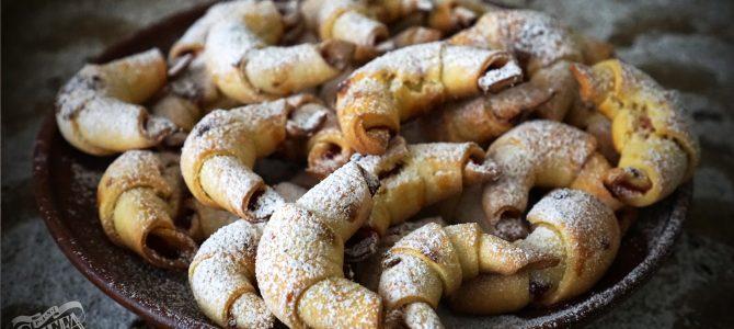 Рогалики з конфітурою, ругелах з журавлиною і горіхами від Пані Стефи