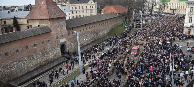 Хресна хода у Львові з висоти пташиного польоту (фото, відео)