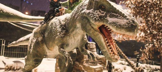 У Львові біля ТРЦ Forum відкрилась виставка «Живі динозаври»(фото)