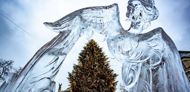 На конкурсі крижаних скульптур у Львові визначили переможців: приголомшливі фото