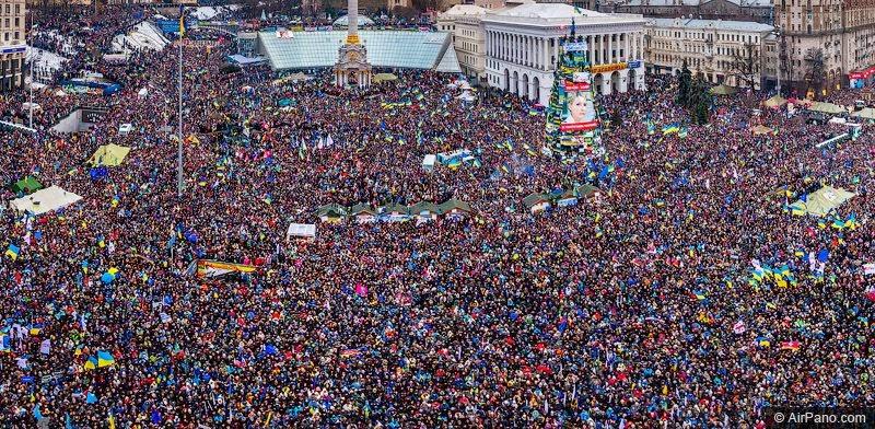 """8 грудня, """"Марш мільйонів"""". Фото airpano.com."""