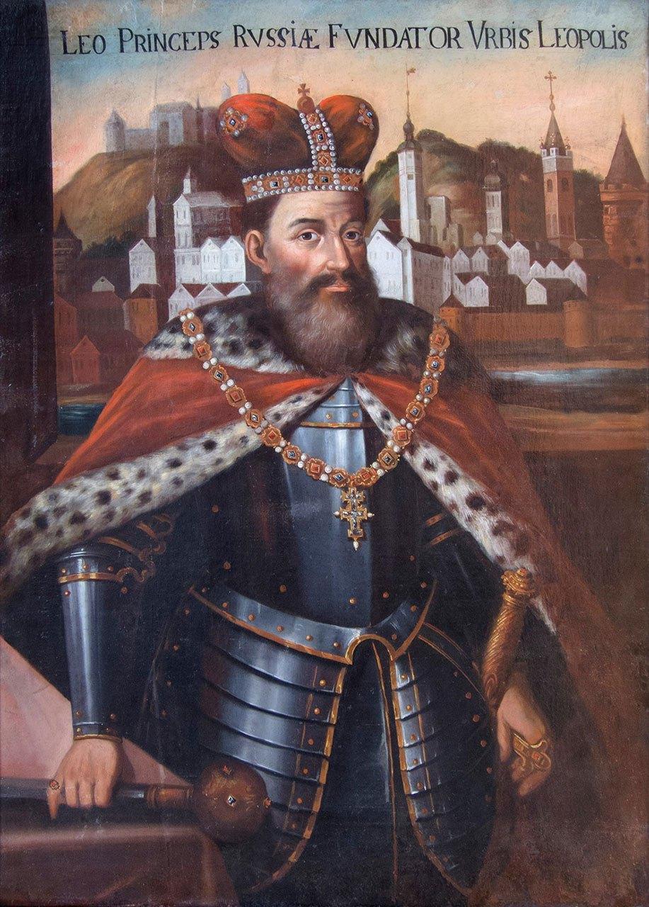 Портрет короля Лева Даниловича, авторства Луки Долинського