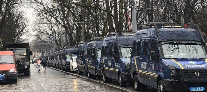 Львів зустрічає президента (фото)
