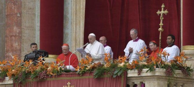 Великоднє послання Папи Франциска Urbi et Orbi 2019