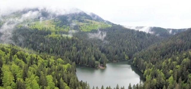 Озеро Синевир після дощу: вражаюче відео з висоти пташиного польоту