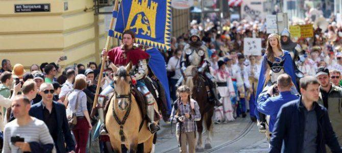 Театралізована міська хода до 763-го дня народження Львова на чолі з королем Данилом (Онлайн трансляція)