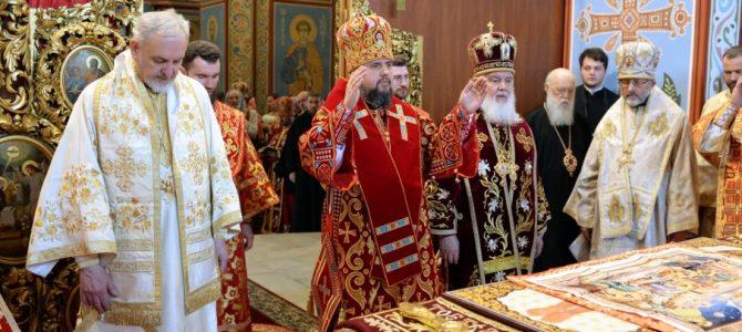 Спільна молитва: Філарет прийшов привітати Епіфанія з Днем ангела
