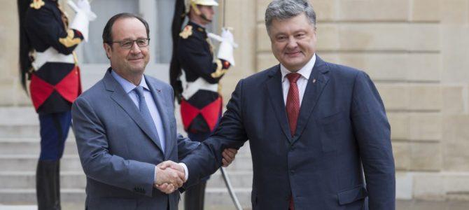Олланд дякував Порошенку за встановлення дружніх відносин з Меркель — екс-заступник глави АП