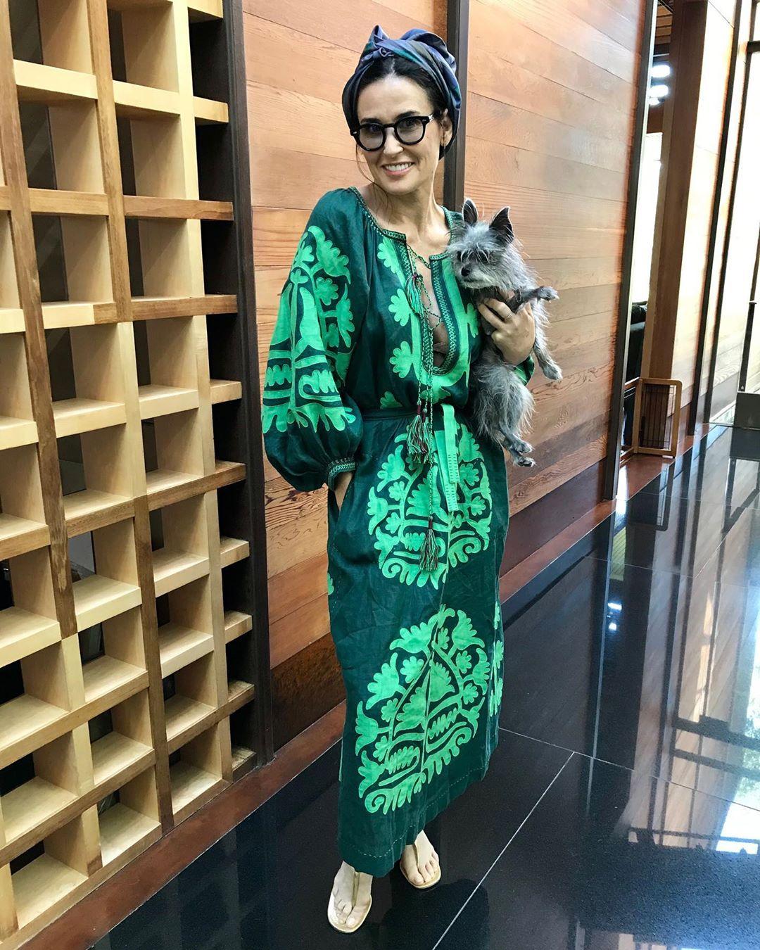 Вона прекрасна! Демі Мур блищить в сукні-вишиванці від українського дизайнера