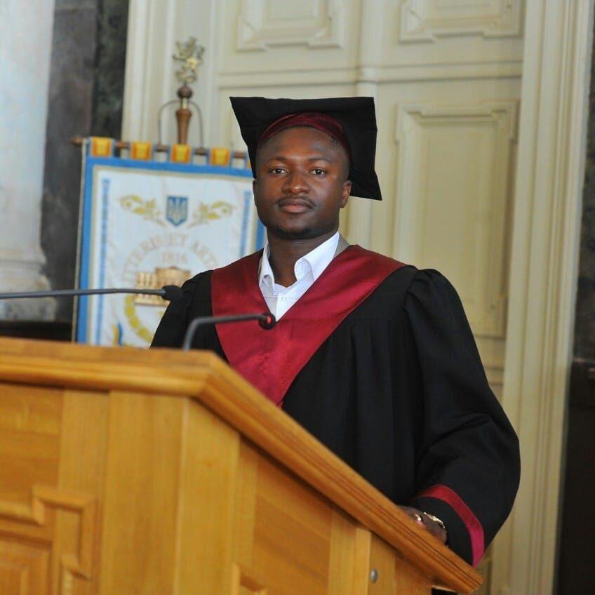 африканський студент у Львові
