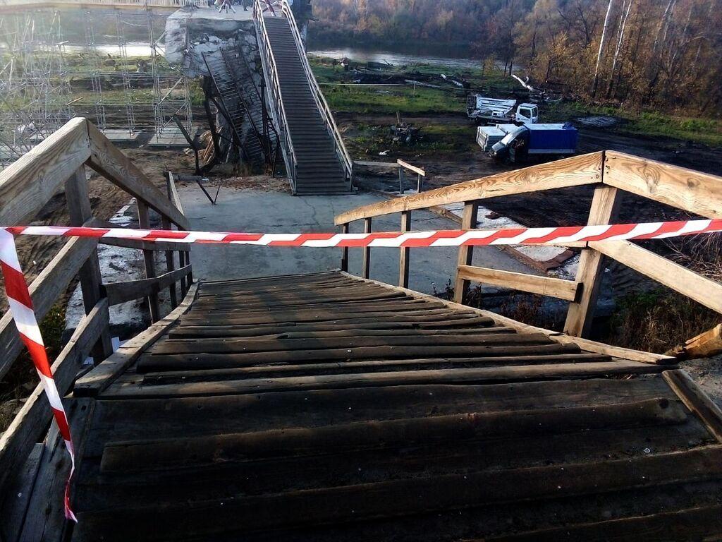 В Станиці Луганській активно відновлюють зруйнований міст