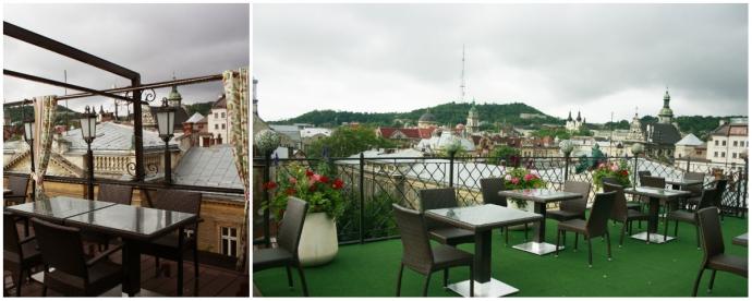 Тераса на даху готелю «Швейцарський»