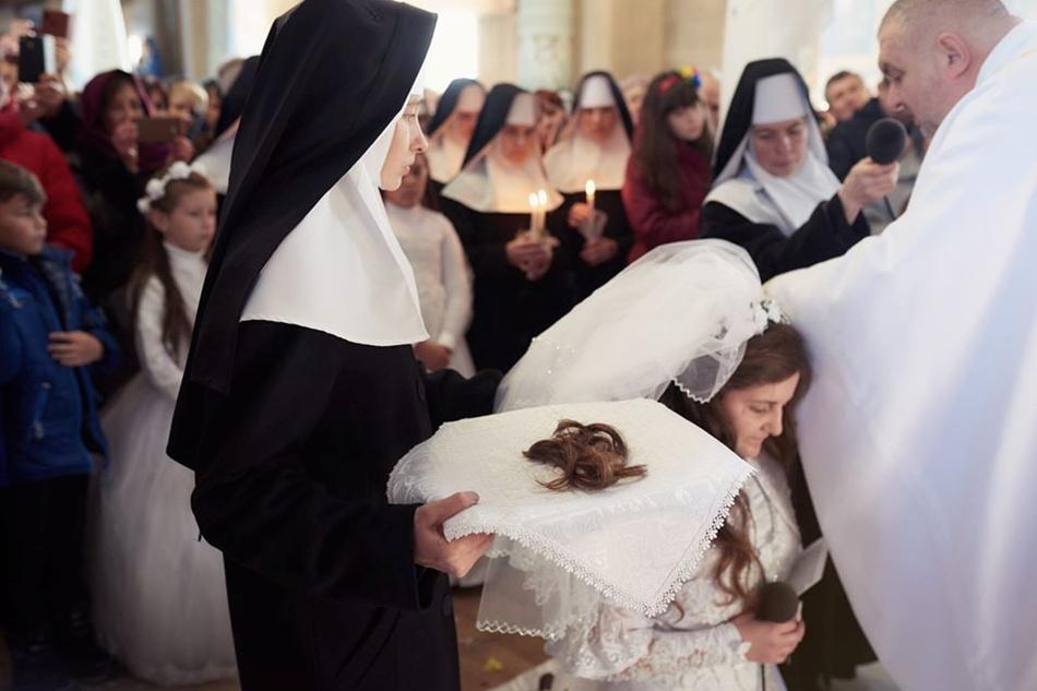 Постриг у монахині. Фото Михайло Балушка.