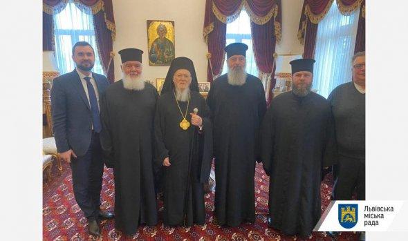 Делегація ПЦУ під час зустрічі з Вселенським Патріархом Варфоломієм