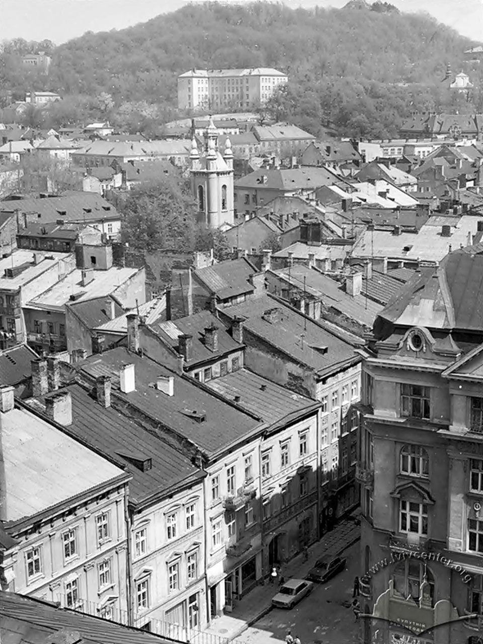 Панорама вулиці Народної гвардії ім. І. Франка, 1971 рік