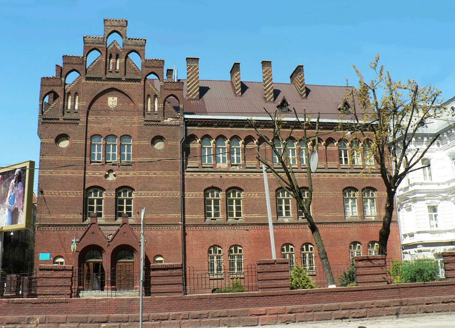Школа Святої Анни. Фасад з вул. Городоцької