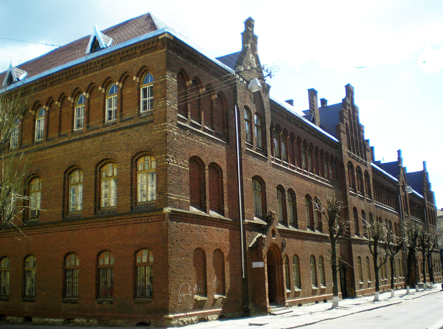 Школа Святої Анни. Вид з вул. Леонтовича