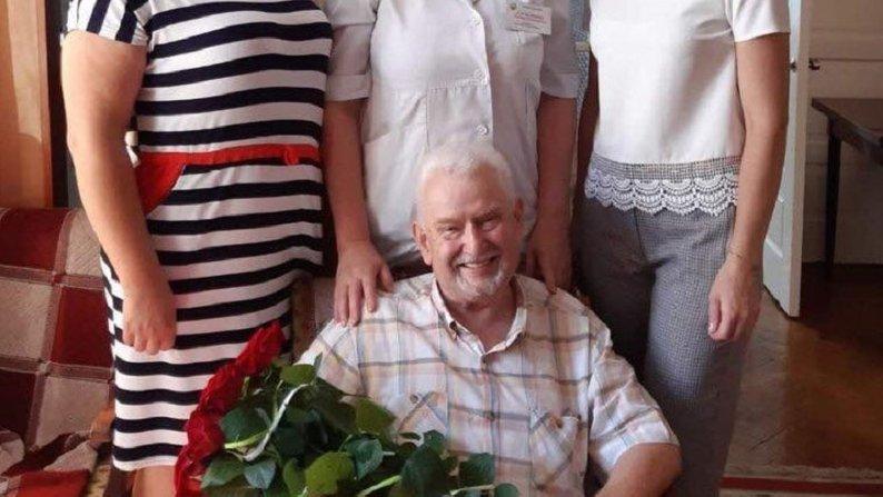 На цьому фото Богдан Городенчук із колегами відзначав своє 80-річчя