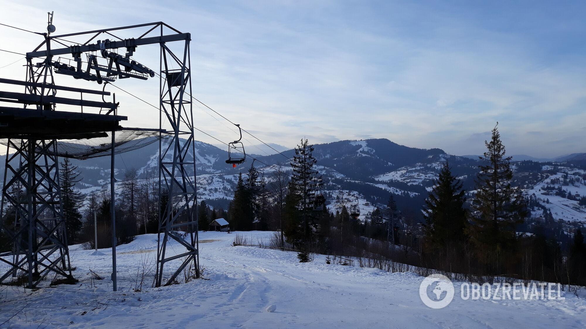Підйомник на горі Погар у Славську