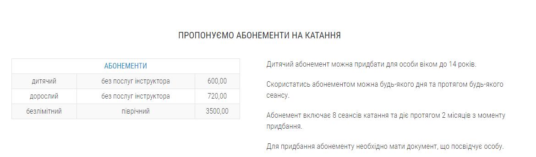 Ковзанка у ТРЦ King Cross Leopolis: ціни 2021