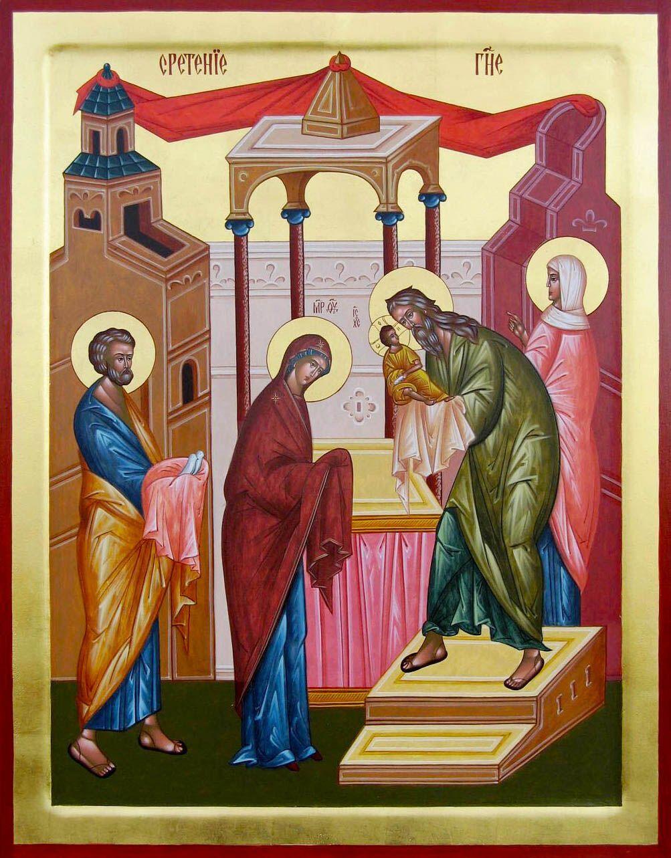 Стрітення присвячене принесенню немовляти Ісуса Христа в храм Єрусалима на 40-й день після Різдва