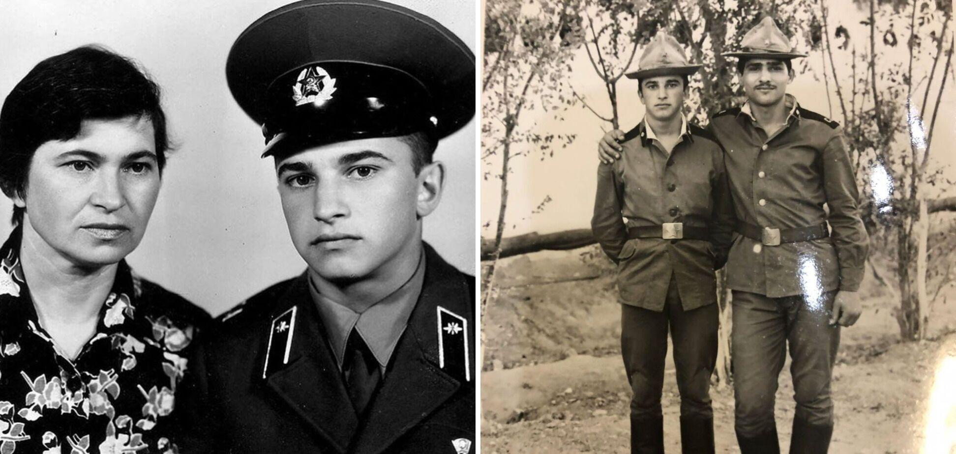 Віктор Павлік із мамою та в армії.